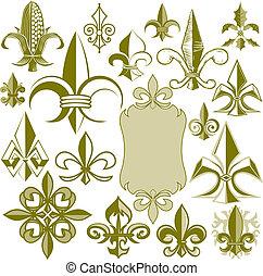 Fleur de lis Collection - Clip art collection of fleur de...