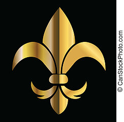 Fleur de Lis emblem logo