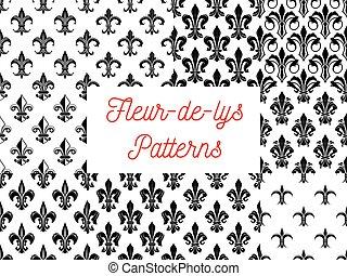 Fleur-de-lis floral seamless pattern background