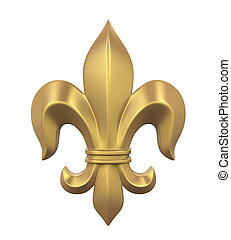 Fleur-de-lis Isolated - Fleur-de-lis isolated on white...