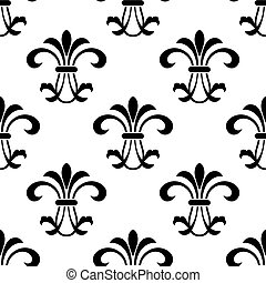 fleur-de-lis, model, black , seamless, koninklijk