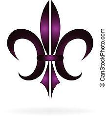 Fleur De Lis. New Orleans symbol flower logo
