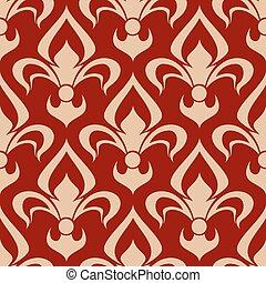 fleur-de-lis, padrão, vitoriano, seamless, heraldic