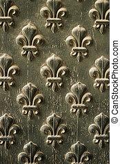 Fleur-de-lis Pattern On Door - Details from the doors to...