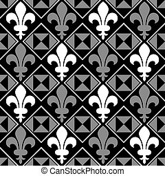 Seamless Fleur De Lis background. Colors are easily editable.