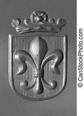 Fleur-de-Lis -pewter - Royal Coat of Arms
