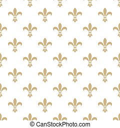Fleur de lis seamless vector pattern. French vintage...