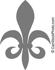 Fleur de lis - sign of lily decorative heraldry symbol