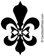 Fleur de lis symbol - black silhouette