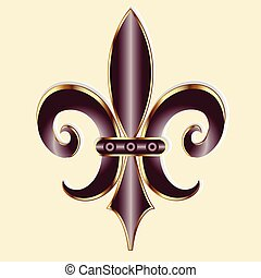 Fleur De Lis symbol logo