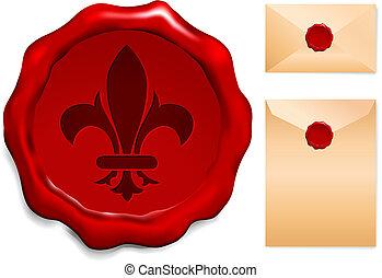 Fleur De Lis Wax Seal