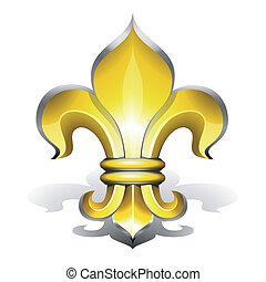 Fleur de Lys, antique symbol of french royalty