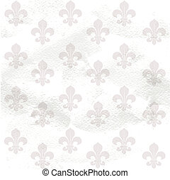 Fleur-de-lys seamless  background background on grange paper
