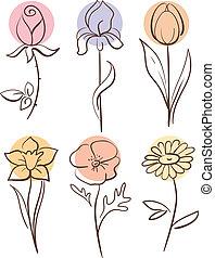 fleur, ensemble