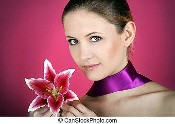 fleur, femme