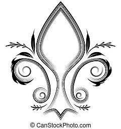 Fleur Flourish - An image of a fleur de lis design element.