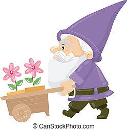 fleur, gnome