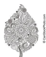 fleur, gracieux, page, coloration