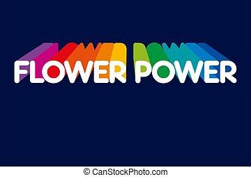 fleur, haut, lettrage, pointage, ombres, arc-en-ciel, puissance, couleurs
