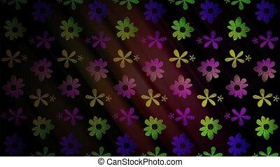 fleur, hd, boucle, icônes