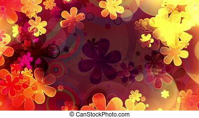 fleur, hippie, puissance, cg, formes, faire boucle, retro, ...