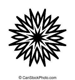 fleur, icône