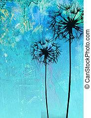 fleur, illustration, pissenlit