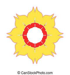 fleur, jaune