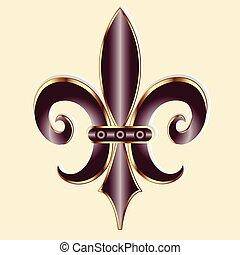 fleur lis, símbolo, logotipo