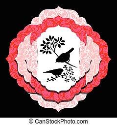 fleur, oiseaux