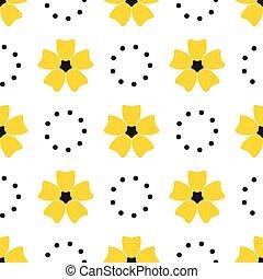 fleur, pattern., seamless