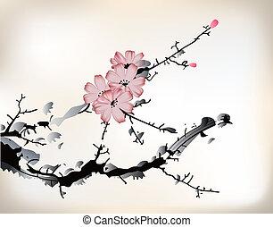 fleur, peinture