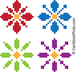fleur, pixel