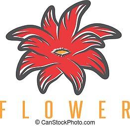fleur, résumé, exotique, vecteur, conception, gabarit