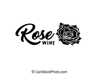 fleur, rose, illustration, main, stylo, encre, dessiné