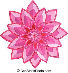 fleur rose, vecteur
