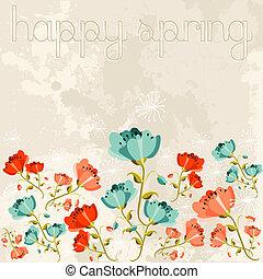 fleur source, heureux, pavot
