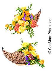 fleur, thanksgiving, arrangement