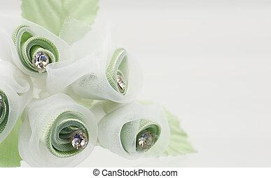fleur, tissu