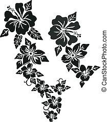 fleur tropicale, habillement