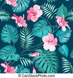 fleur tropicale, pattern.