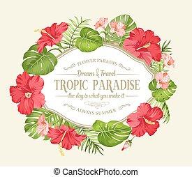 fleur tropicale, wreath.