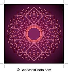 fleur, vector., geometry., résumé, pattern., sacré, life., géométrique