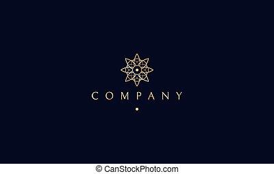 fleur, yoga, or, lotus, vecteur, conception, logo