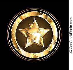 fleuret, étoile, or
