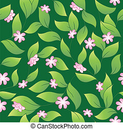 fleuri, 2, seamless, fond