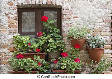 fleuri, balcon