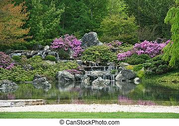 fleurir, jardin japonais