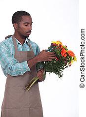 fleuriste, mâle