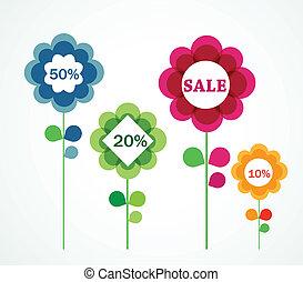 fleurs, à, vente, signes